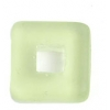Glass Squares 12x12mm Transparent Chartreuse/Green Matt